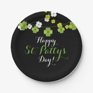 Black St. Patty's Day Paper Plates