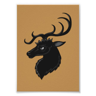 Black Stag Poster