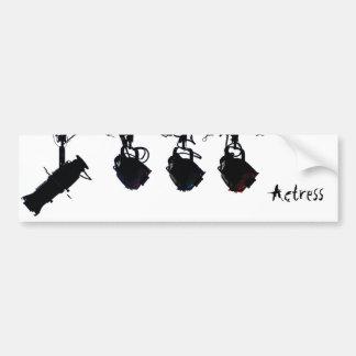 Black Stage Light Silhouettes Digital Camera Bumper Sticker