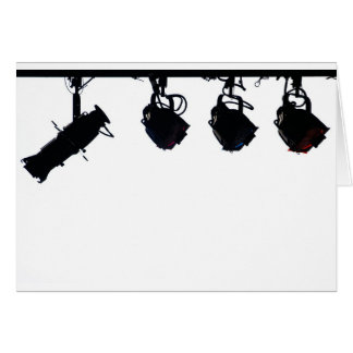 Black Stage Light Silhouettes Digital Camera Card