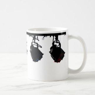 Black Stage Light Silhouettes Digital Camera Coffee Mug