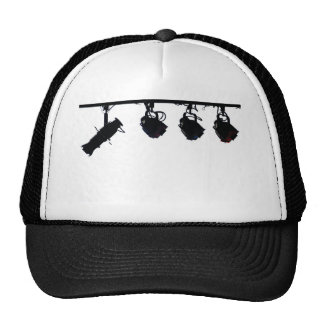 Black Stage Light Silhouettes Digital Camera Hats