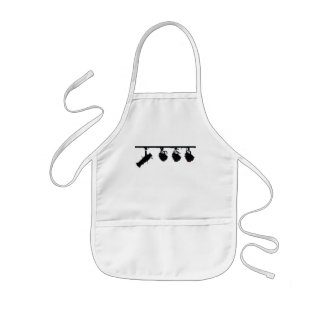 Black Stage Light Silhouettes Digital Camera Kids' Apron