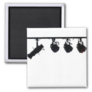 Black Stage Light Silhouettes Digital Camera 2 Inch Square Magnet