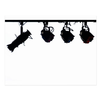 Black Stage Light Silhouettes Digital Camera Postcard