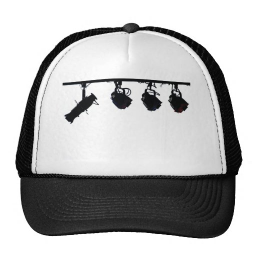 Black Stage Light Silhouettes Digital Camera Trucker Hat