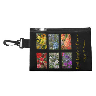 Black Stained Glass Window Flower Garden Accessory Bag