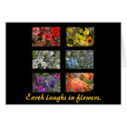 Black Stained Glass Window Flower Garden Card
