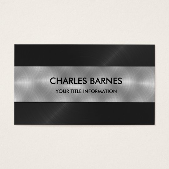 Black Stainless Steel Business Card