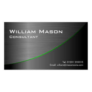 Black Stainless Steel Curved, Business Card