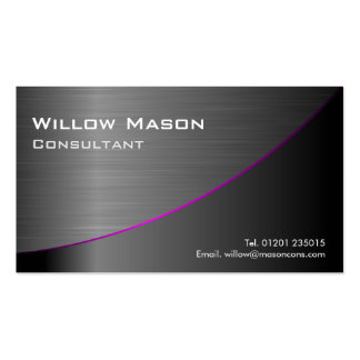 Black Stainless Steel Curved Business Card