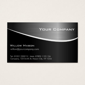 Black Stainless Steel Professional Business Card