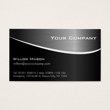 Professional Business Black Stainless Steel Professional Business Card