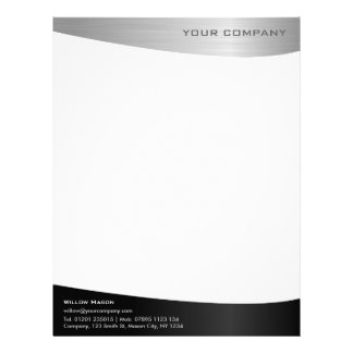 Black Stainless Steel Professional Letterhead