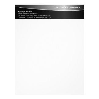 Black Stainless Steel Professional Letterhead v2