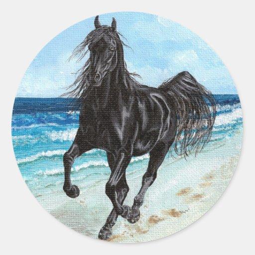 Black Stallion Arabian horse sticker