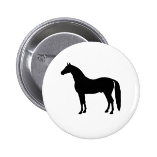 Black Stallion Elegant Horse Silhouette Drawing Pin
