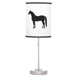 Black Stallion Elegant Horse Silhouette Drawing Table Lamp