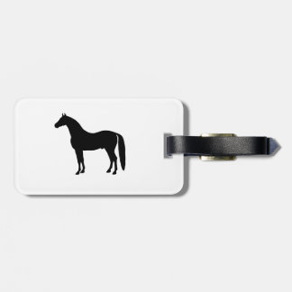 Black Stallion Elegant Horse Silhouette Drawing Luggage Tags