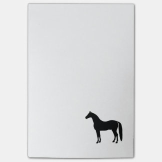 Black Stallion Elegant Horse Silhouette Drawing Post-it® Notes