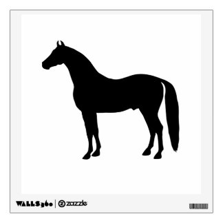 Black Stallion Elegant Horse Silhouette Drawing Wall Decal
