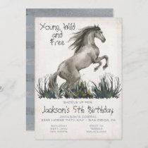 Black Stallion Horse Birthday Party Invitation
