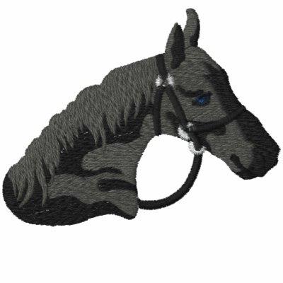 Black Stallion Horse Embroidered Shirt