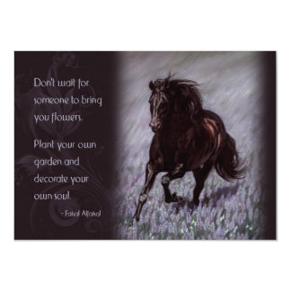 Black Stallion in a Field of Dreams Card