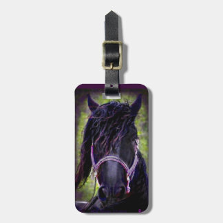 Black Stallion Luggage Tag