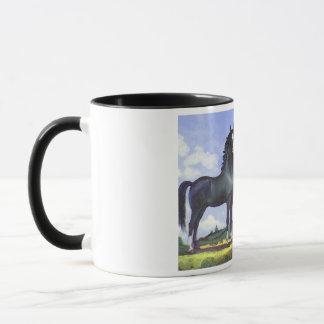 Black Stallion Mare and Colt Mug