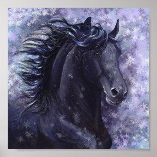 Black Stallion Mini Poster