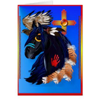 Black Stallion of Morning Card
