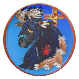 Black Stallion of Morning plate