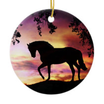 Black Stallion Ornament