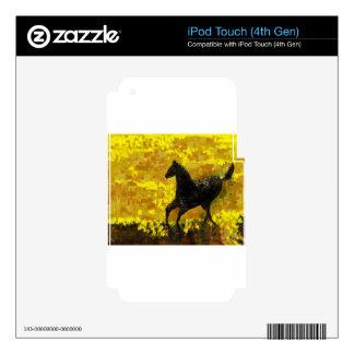 Black Stallion Skin For iPod Touch 4G