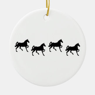 Black Stallions Logo Ornament