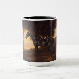 Black Stallions Vintage Painting by George Stubbs Mug