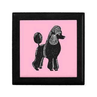 Black Standard Poodle Gift Box