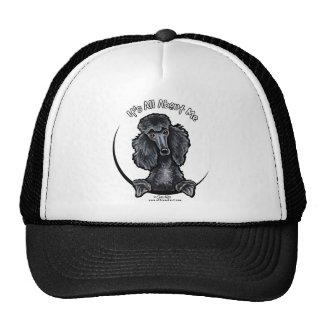 Black Standard Poodle IAAM Trucker Hat