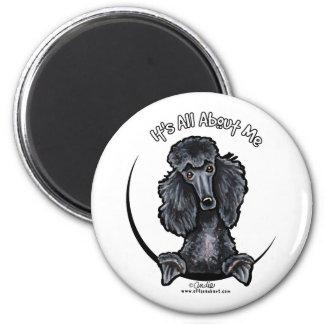 Black Standard Poodle IAAM Magnet