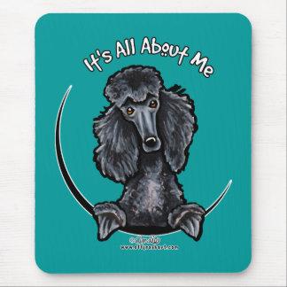 Black Standard Poodle IAAM Mouse Pad