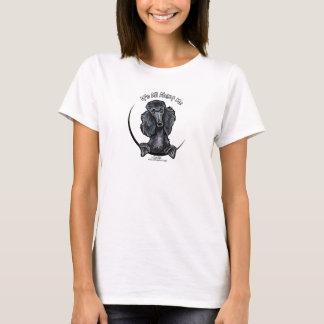 Black Standard Poodle IAAM T-Shirt