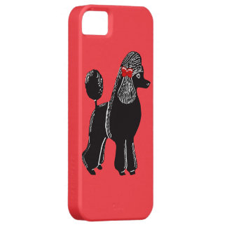 Black Standard Poodle Red iPhone 5/5s Case