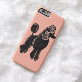 Black Standard Poodle Rosy Peach iPhone 6 Case
