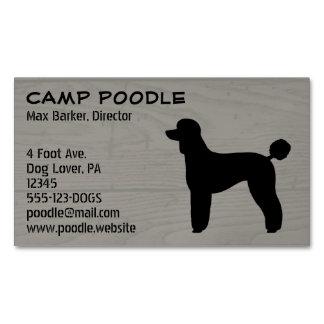 Black Standard Poodle Silhouette Business Card Magnet