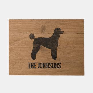 Black Standard Poodle Silhouette Doormat