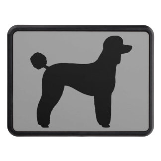 Black Standard Poodle Silhouette (Lamb Cut) Tow Hitch Cover