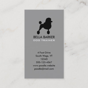 Standard vertical business cards templates zazzle black standard poodle silhouette vertical business card colourmoves