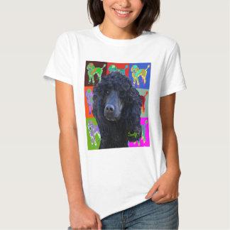 Black Standard Poodle Tee Shirt