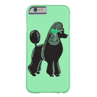 Black Standard Poodle with Green Bow iPhone 6 Case